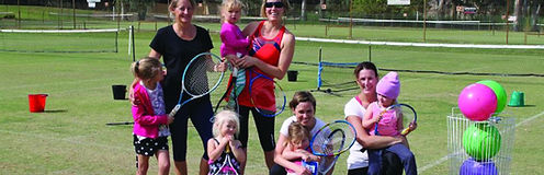 Mums and toddlers tennis