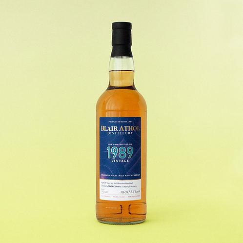 Blair Athol Single Malt Scotch Whisky, 1989 Vintage, 31 Years, 70cl 52.4% vol