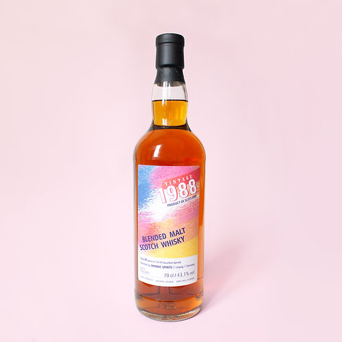 Highland Blended Malt Scotch Whisky, 1988 Vintage, 31 Year Old,  70cl 43.1% vol