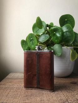 Handmade Bespoke Leather Hip Flask