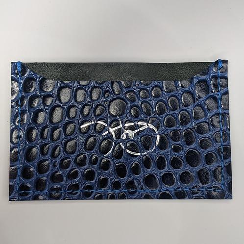 Blue Croc Cardholder 'Type 1'.