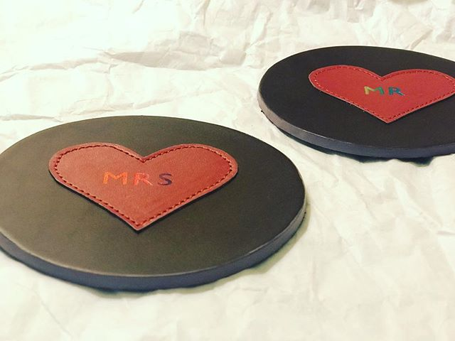 Wedding Gift - personalised coasters
