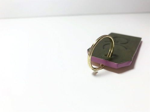 Olive Green with Pop Pink Edge Key Fob