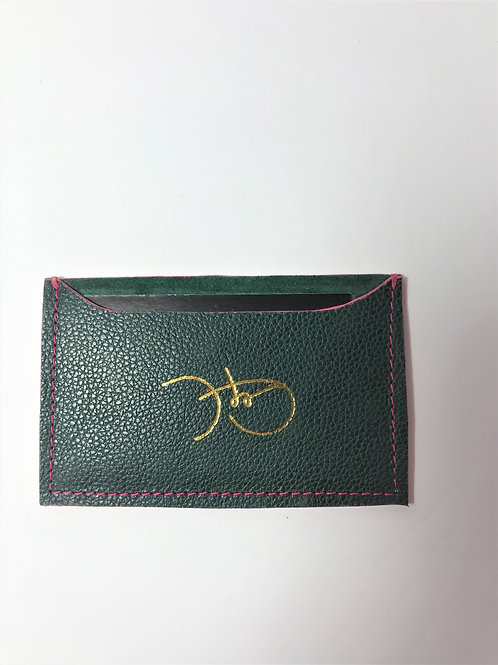 Green Stingray & Green Suede Cardholder 'Type 1'