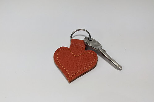Orange Heart Key Ring.