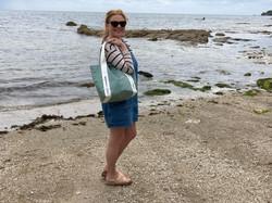 Beach bag in cornwall