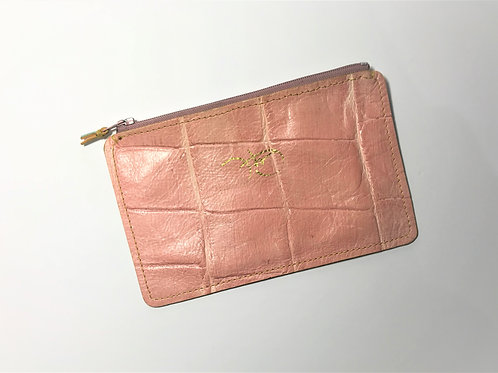 The Versatile Pocket Pouch in pink croc