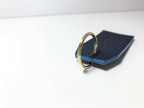 Navy Blue with Silver Print and Sky blue Edge Dye Key Fob.