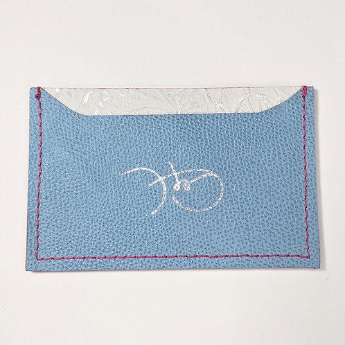 Sky Blue Stingray & Floral White Cardholder 'Type 1'