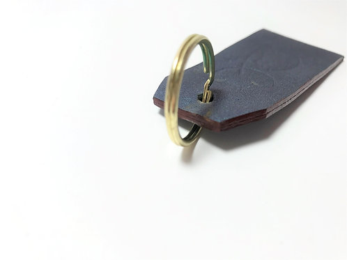 Frosted Metallic with Burgundy Edge Key Fob.