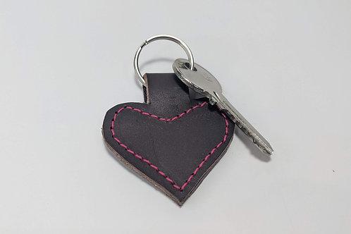 Chocolate Brown Heart Key Ring.