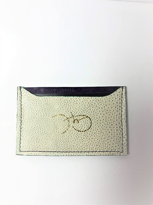 Pearl Stingray & Purple Napa Cardholder 'Type 1'