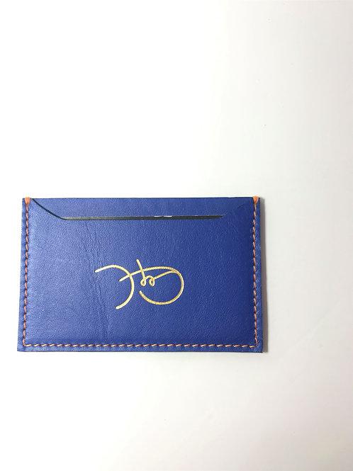 Bold Blue &  Orange Cardholder 'Type 1'
