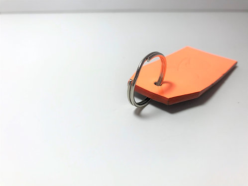 Fluorescent Orange & Midnight Black with Orange Edge Dye Key Fob.
