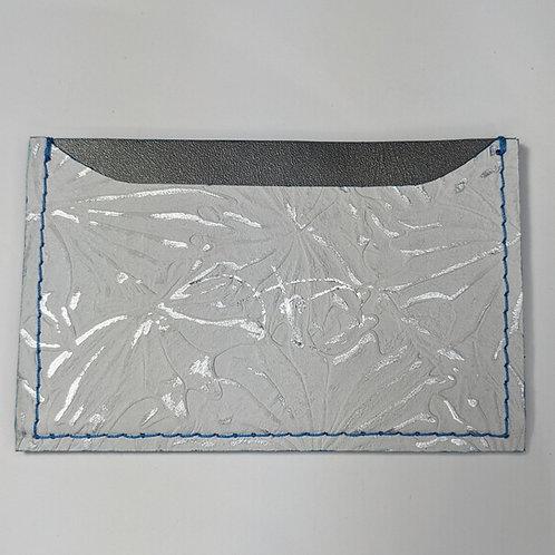 Floral White & Metallic Silver Cardholder 'Type 1'.