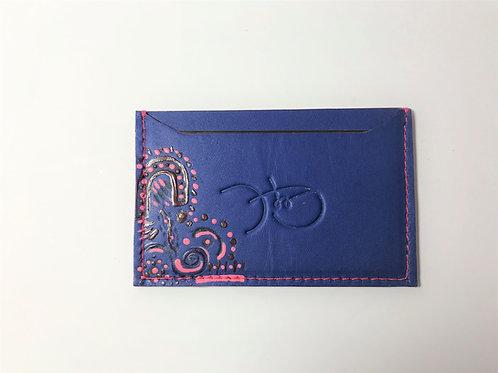 Bold Blue & Dot Art Cardholder 'Type 1'