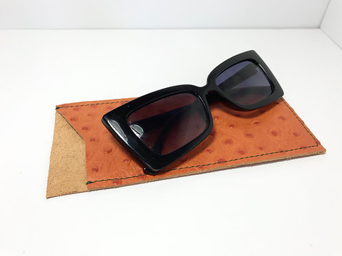 Bittersweet Orange With Forest Green Glasses Case