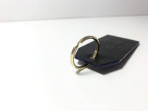 Midnight Black with Navy Blue Edge Key Fob