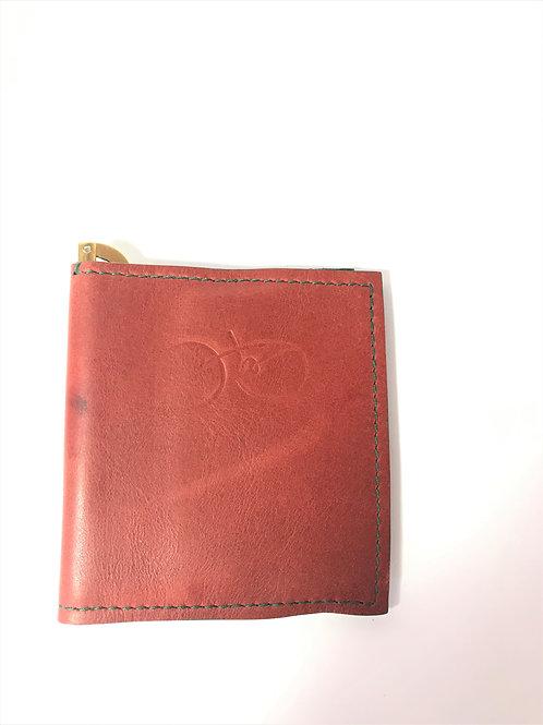 Burnt Sienna & Forest Green Wallet.