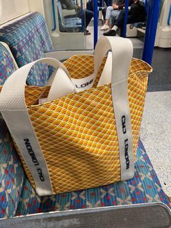 beach bag on the tube