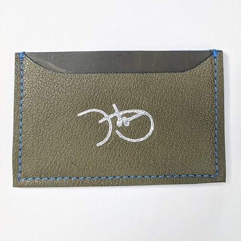Textured Olive Green Cardholder 'Type 1'.