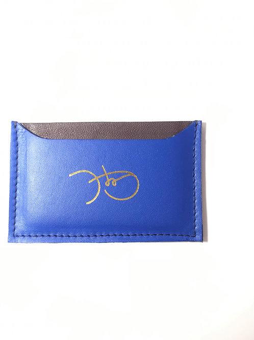 Bold Blue & Brown Cardholder 'Type 1'