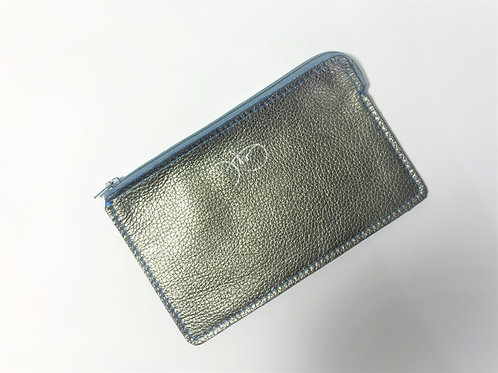 The Versatile Pocket Pouch in metallic silver.
