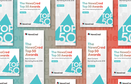 The NewsCred Top 50 Awards Online Marketing Collateral
