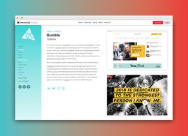 The NewsCred Top 50 Awards Micro Site Winner Page