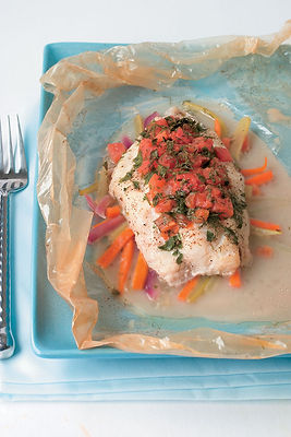 Baked Catfish In Papillotes