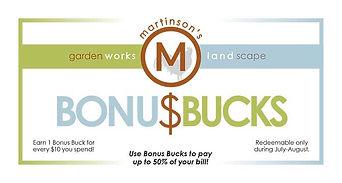 Martinson's Bonus Bucks