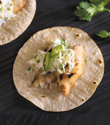 Catfish Taco With Jalapeño-Cilantro Slaw
