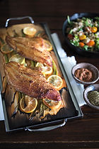 Cedar-Planked Catfish With Hoppin' John