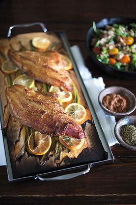 Cedar Planked Catfish With Hoppin' John