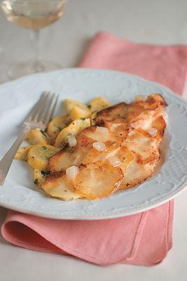 Potato Crusted Catfish With Apples And Jalapeño