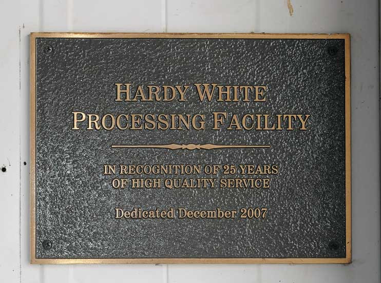 Hardy White Processing Facility