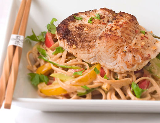 Seared Thai Style Delacata with Noodles