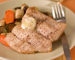 Roasted Delacata Steaks With Garlic Compound Butter