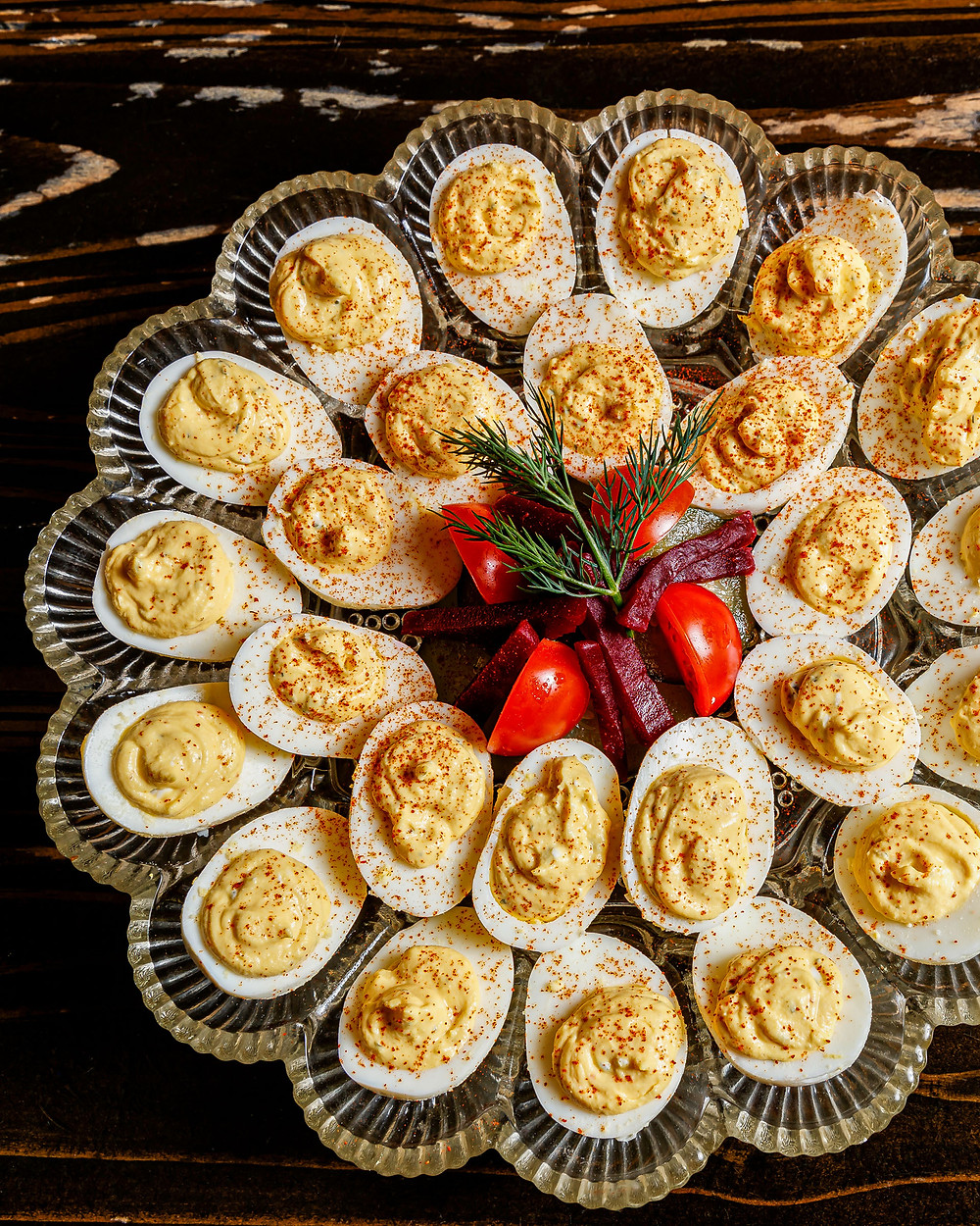 Smoked Simmons Catfish Deviled Eggs