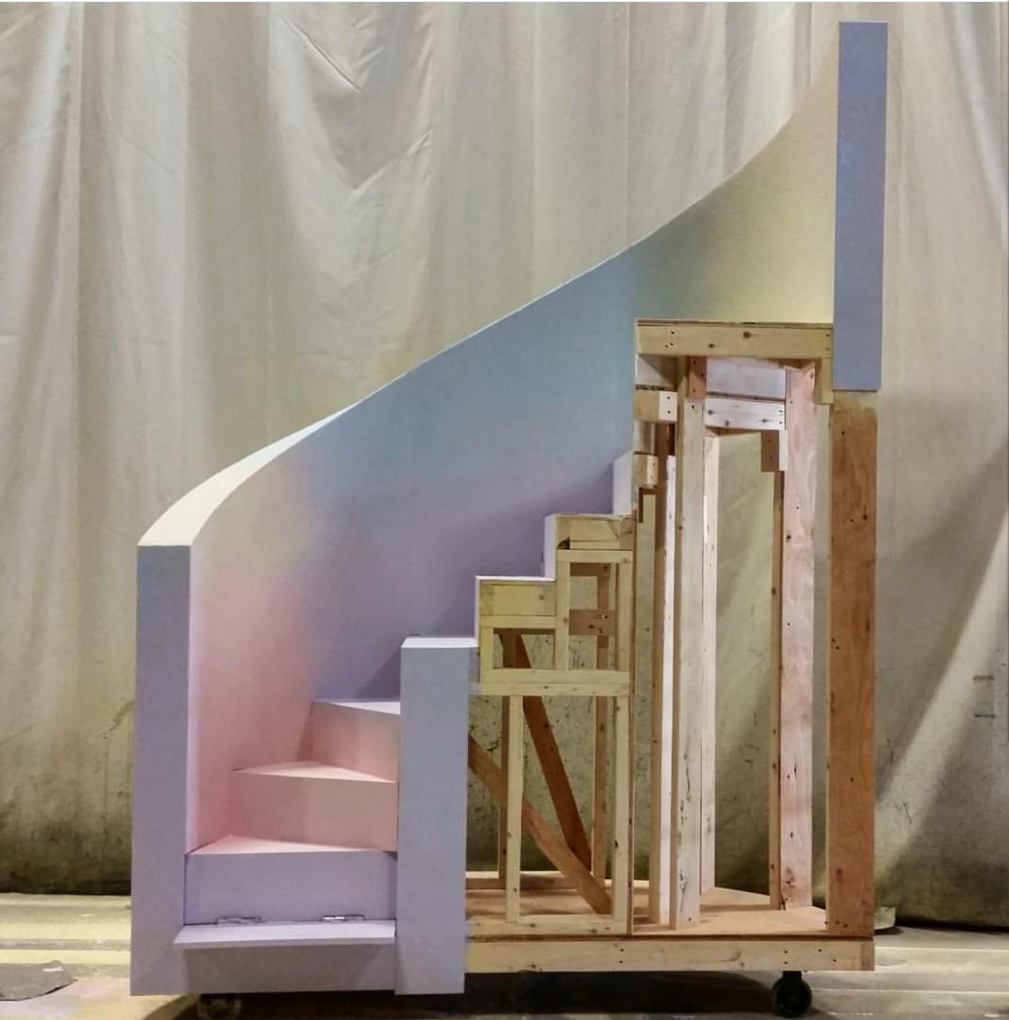 staircase in progress