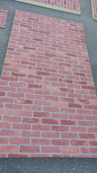 brick in progress detail