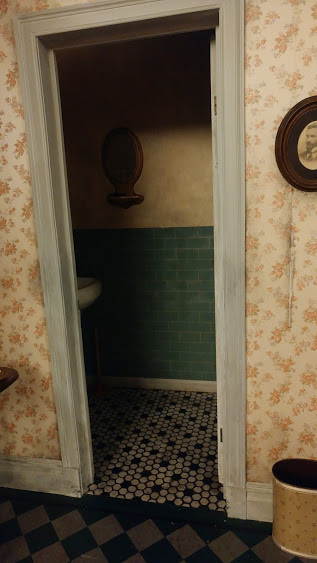Hallway and bathroom tile in context