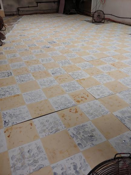 Linoleum in progress