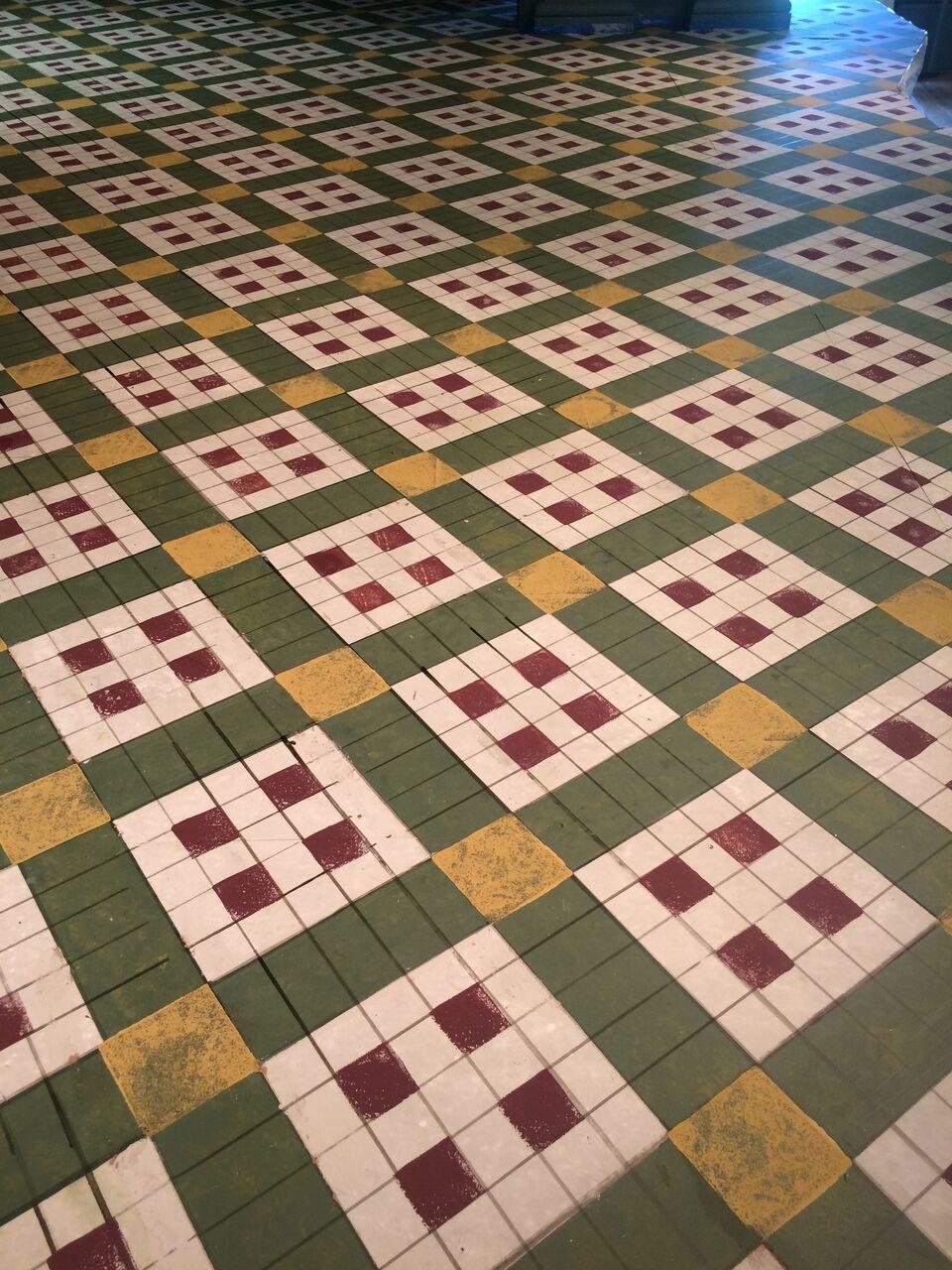 detail of in progress tile
