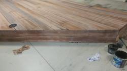 Raised wooden deck