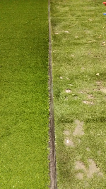 new vs distressed turf