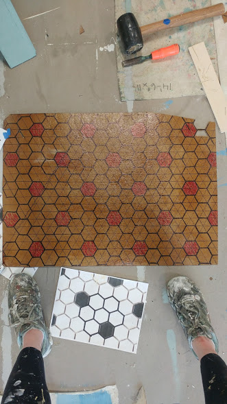 bathroom tile stenstle lay out