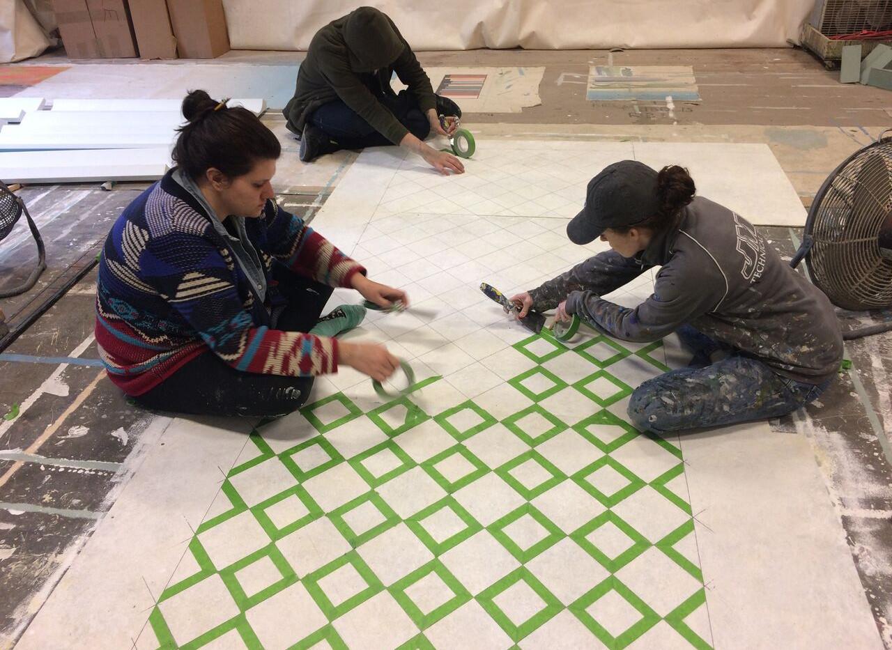 tile layout in progress