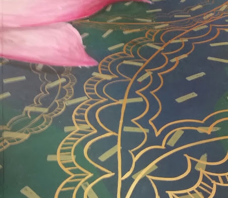 detail of gold paisley
