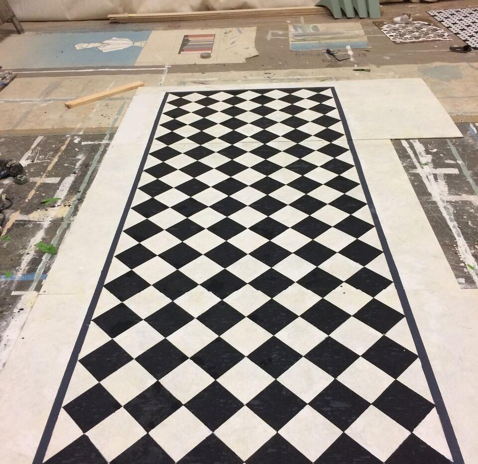 B&W Square tile